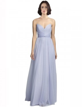 Shop A-Line Spaghetti Straps Sweetheart Tulle Long Floor Length Lilac Roselyn Bridesmaid Dress Victoria