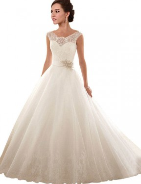 Shop Ball Gown Off the Shoulder Lace & Tulle Long Chapel Train White Arabella Wedding Dress Victoria