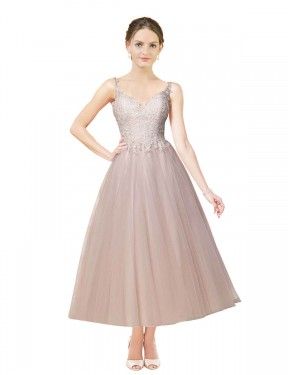 Shop Ball Gown Sweetheart Tulle Short Tea Length Ivory & Champagne Daleyza Wedding Dress Victoria