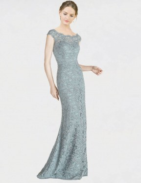 Shop Mermaid Fit and Flare Off the Shoulder Lace Long Floor Length Blue Kai Bridesmaid Dress Victoria